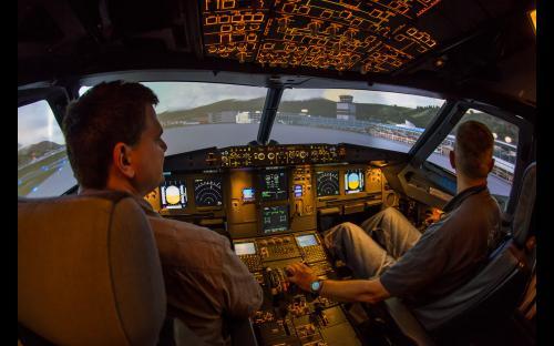 A320 Flugsimulator bei Berlin