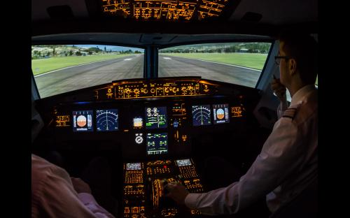 Flugsimulator A320 in Aachen