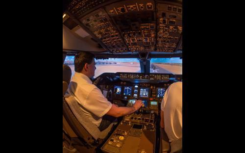 Boeing 747 Flugsimulator